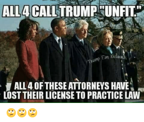 "attorneys: ALL4CALL TRUMPHUNFIT""  an Netwo  ALL 4 OFTHESE ATTORNEYS HAVE  LOST THEIR LICENSE TO PRACTICE LAW 🙄🙄🙄"
