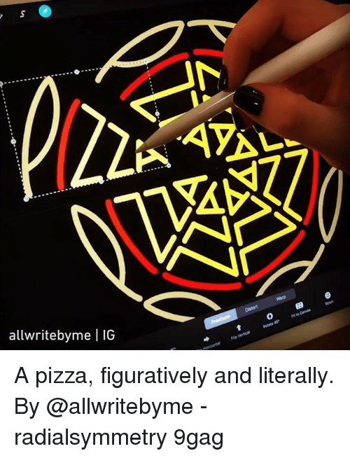 9gag, Memes, and Pizza: allwritebyme | IG A pizza, figuratively and literally. By @allwritebyme - radialsymmetry 9gag