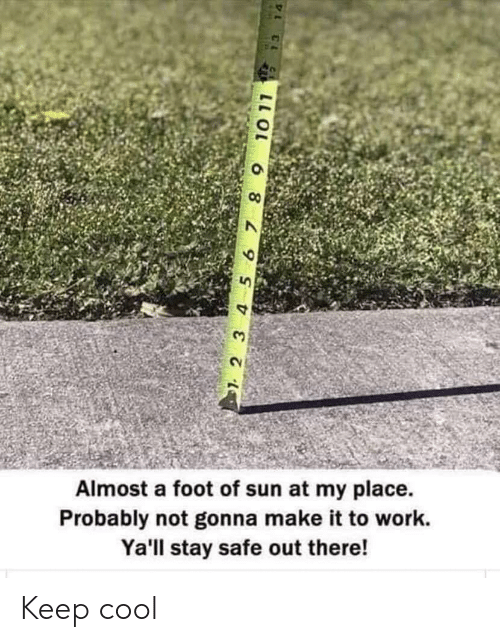 2 3 4 5: Almost a foot of sun at my place  Probably not gonna make it to work.  Ya'll stay safe out there!  2 3 4 5 67 8 9  10 11  L C Keep cool