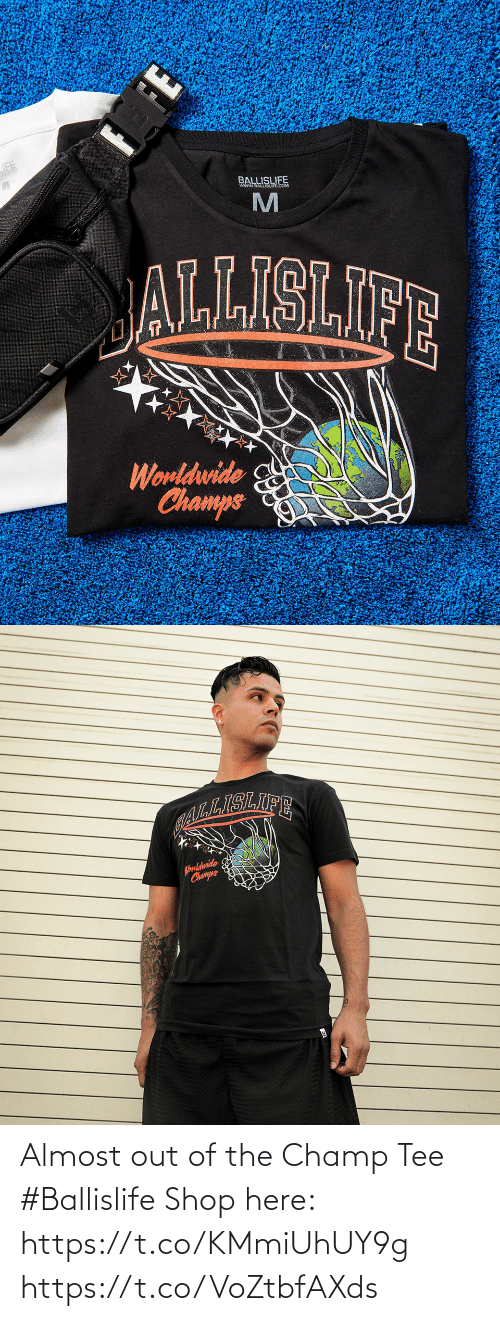 tee: Almost out of the Champ Tee #Ballislife   Shop here: https://t.co/KMmiUhUY9g https://t.co/VoZtbfAXds
