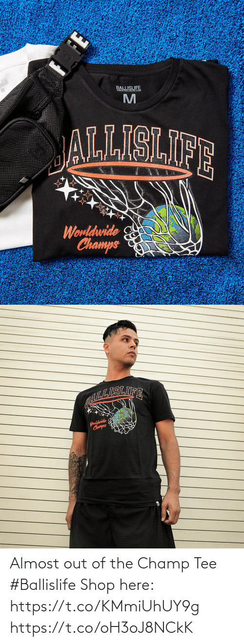 tee: Almost out of the Champ Tee #Ballislife   Shop here: https://t.co/KMmiUhUY9g https://t.co/oH3oJ8NCkK