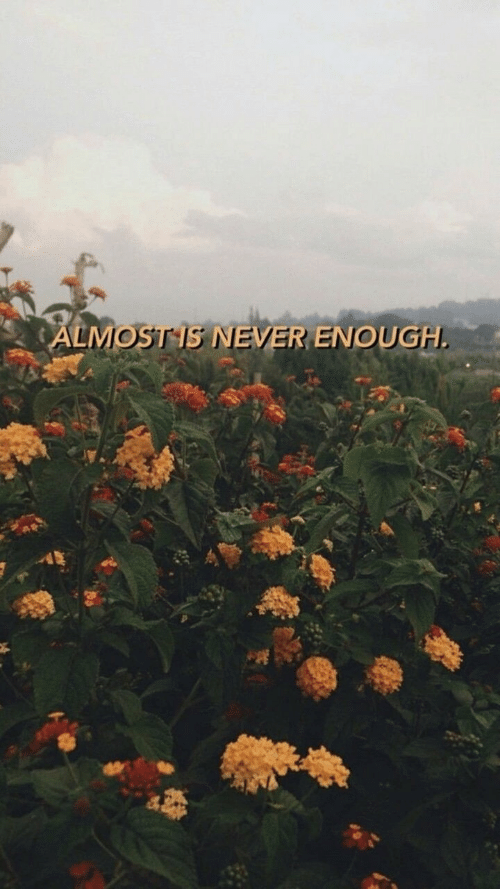 never enough: ALMOSTS NEVER ENOUGH