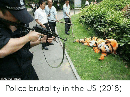 police brutality: ALPHA PRESS Police brutality in the US (2018)