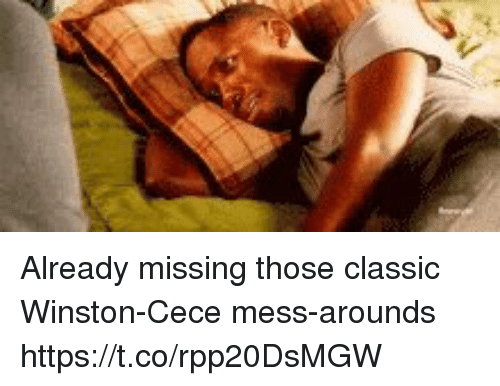 Memes, 🤖, and Mess: Already missing those classic Winston-Cece mess-arounds https://t.co/rpp20DsMGW