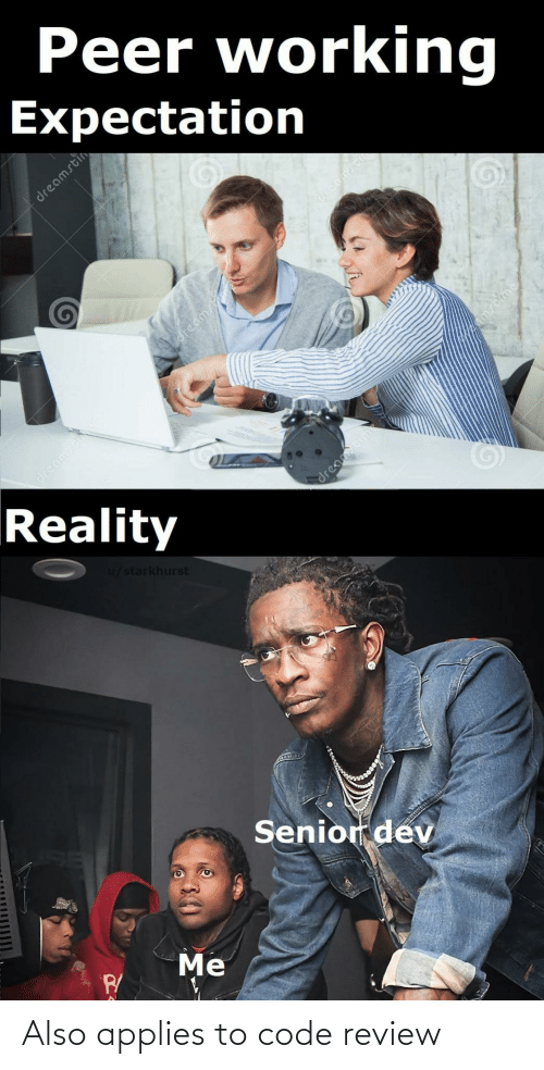review: Also applies to code review