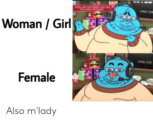 Neckbeard Things,  Mlady, and Also: Also m'lady