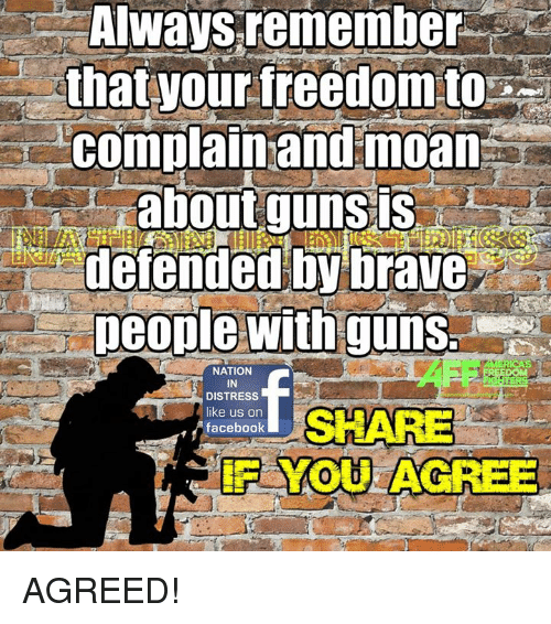 """your freedom your rights your guns """"your rights end where my rights begin in theory, that music is infringing on your freedom of silence, but silence is an unreasonable expectation."""
