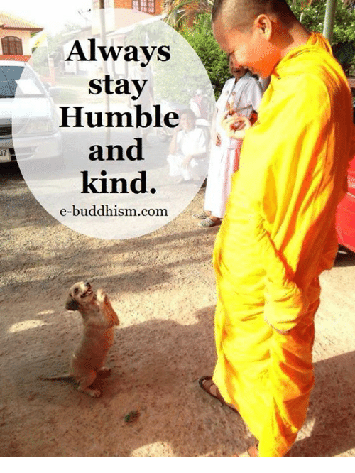 Stay Humble: Always  stay  Humble  and  kind.  e-buddhism com