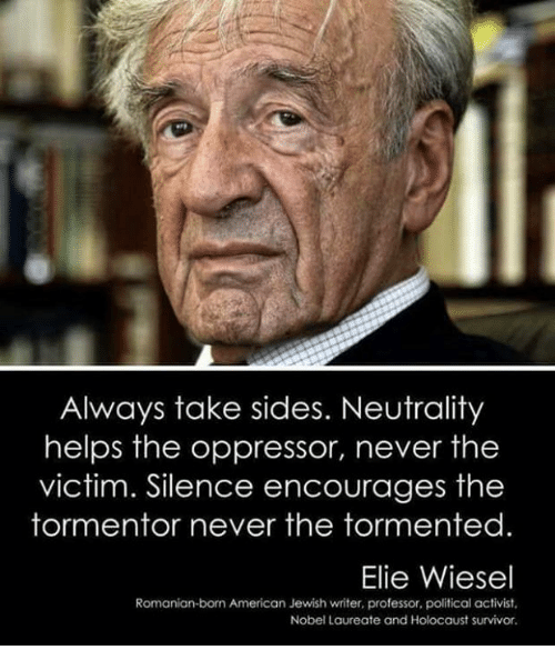 neutrality helps the oppressor never the victim essay