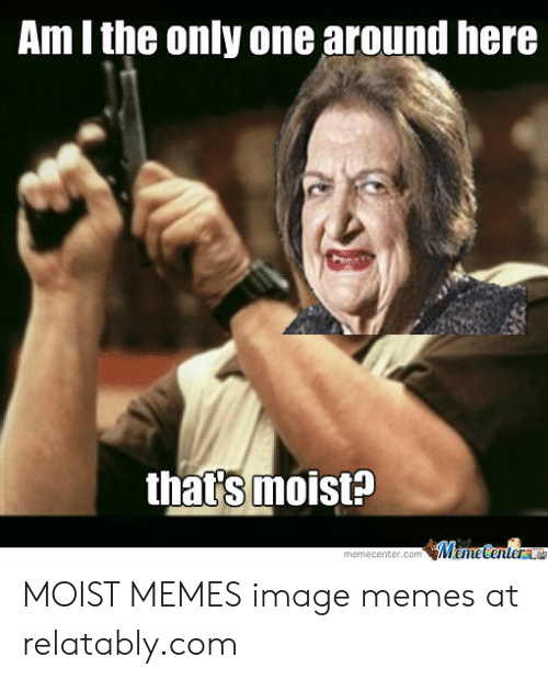 You Make Me Moist Meme: Am l the only one around here  that's moist? MOIST MEMES image memes at relatably.com