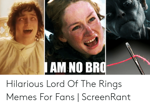 Funny Lord Of The Rings: AM NO BF Hilarious Lord Of The Rings Memes For Fans   ScreenRant