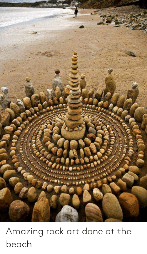 the beach: Amazing rock art done at the beach