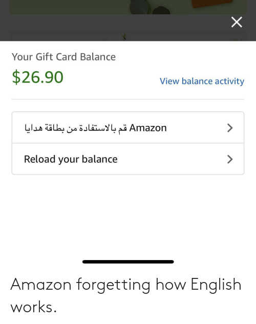 Forgetting: Amazon forgetting how English works.