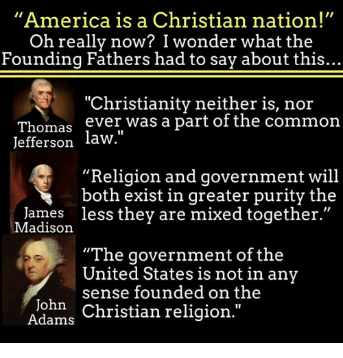 religion influences the united states government The unholy marriage between political power and religious influence can even  be seen here in the states the us presidential race has never.
