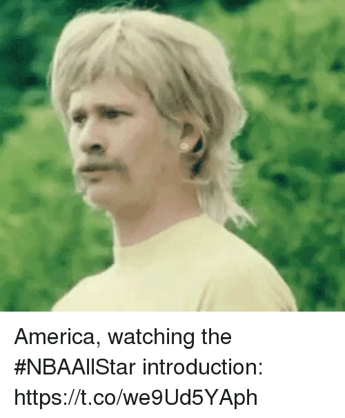 America, Sports, and  Watching: America, watching the #NBAAllStar introduction: https://t.co/we9Ud5YAph