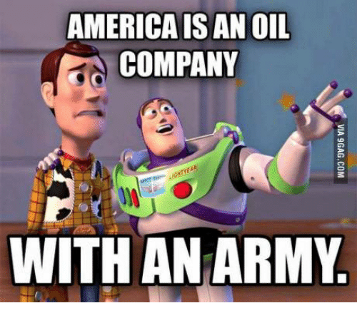 Image result for oil company with an army