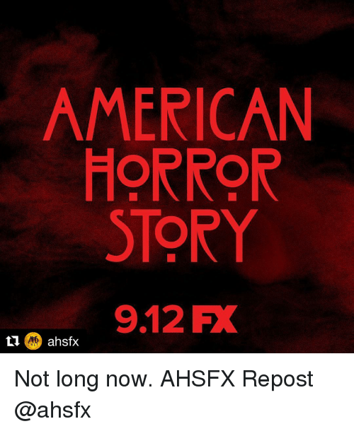 aed: AMERICAN  HORROR  STORY  9.12 FX  AED  CULT Not long now. AHSFX Repost @ahsfx