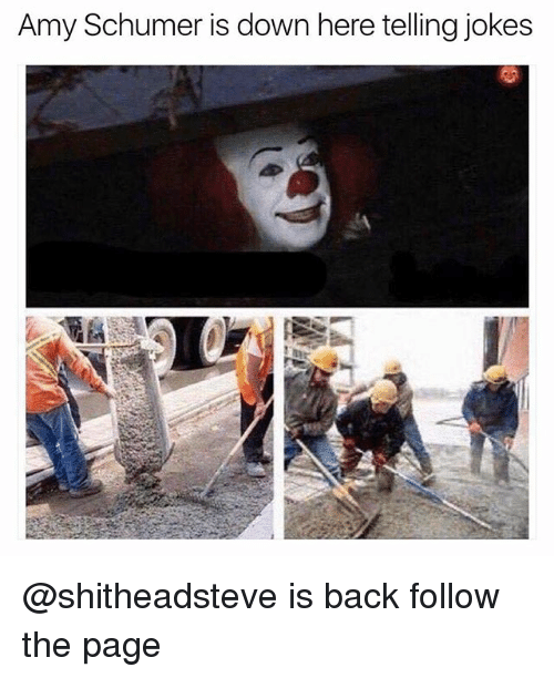 Amy Schumer, Memes, and Jokes: Amy Schumer is down here telling jokes @shitheadsteve is back follow the page