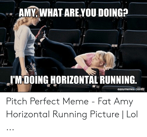 Meme Fat: AMY, WHAT ARE.YOU DOING?  I'MDOING HORIZONTAL RUNNING  easymemes.com Pitch Perfect Meme - Fat Amy Horizontal Running Picture | Lol ...