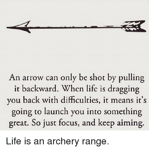 An Arrow Can Only Be Shot By Pulling It Backward When: 25+ Best Memes About Archery
