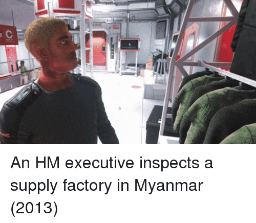 myanmar: An HM executive inspects a supply factory in Myanmar (2013)