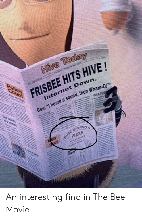 the bee movie: An interesting find in The Bee Movie
