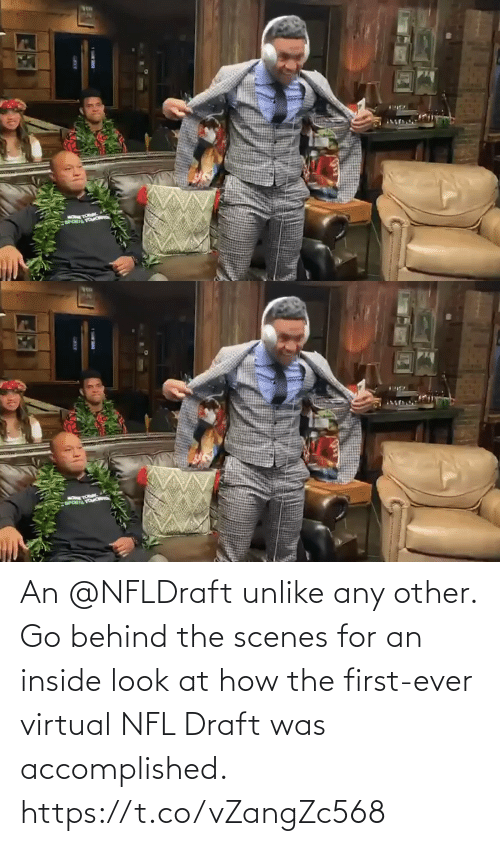 scenes: An @NFLDraft unlike any other.  Go behind the scenes for an inside look at how the first-ever virtual NFL Draft was accomplished. https://t.co/vZangZc568