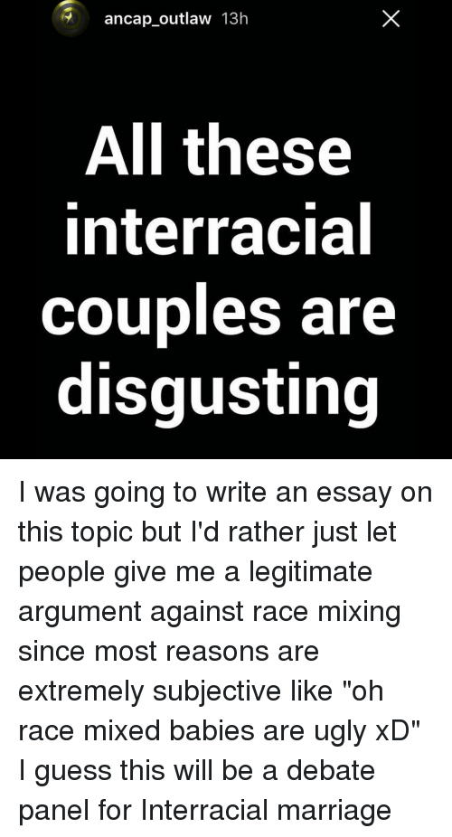 Interracial relationships essay