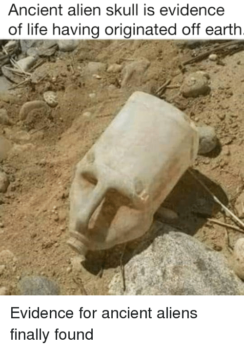 Funny, Life, and Aliens: Ancient alien skull is evidence  of life having originated off earth