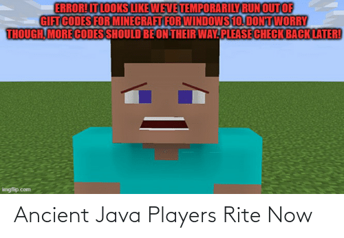 Java: Ancient Java Players Rite Now