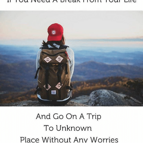 tripped: And Go On A Trip  To Unknown  Place Without Any Worries