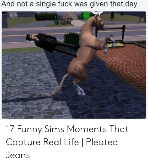 Funny, Life, and Sims: And not a single fuck was given that day 17 Funny Sims Moments That Capture Real Life | Pleated Jeans