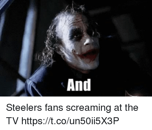 Memes, Steelers, and 🤖: And Steelers fans screaming at the TV https://t.co/un50ii5X3P
