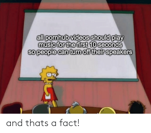 fact: and thats a fact!