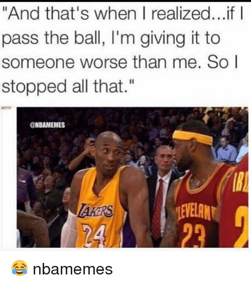 "SIZZLE: ""And that's when I realized... if I  pass the ball, l'm giving it to  someone worse than me. So I  stopped all that.""  NBAMEMES  EYELAM 😂 nbamemes"