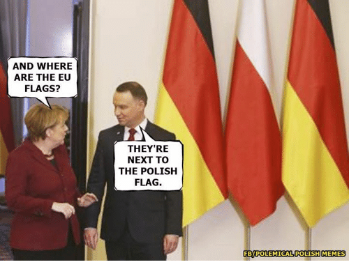 Memes, 🤖, and Polish: AND WHERE  ARE THE EU  FLAGS?  THEY'RE  NEXT TO  THE POLISH  FLAG  FBIPOLEMICAL POLISHMEMES