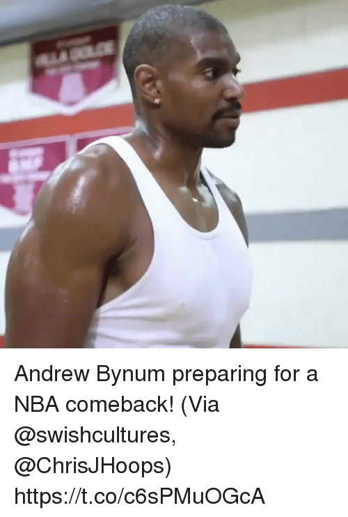 Memes, Nba, and Andrew Bynum: Andrew Bynum preparing for a NBA comeback!  (Via @swishcultures, @ChrisJHoops)   https://t.co/c6sPMuOGcA