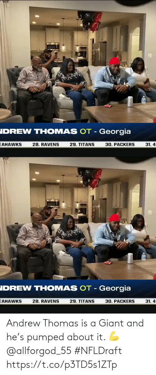 andrew: Andrew Thomas is a Giant and he's pumped about it. 💪 @allforgod_55 #NFLDraft https://t.co/p3TD5s1ZTp