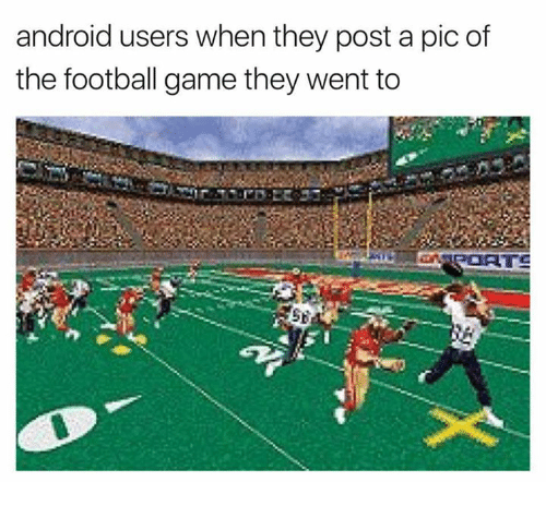 Post A Pic: android users when they post a pic of  the football game they went to