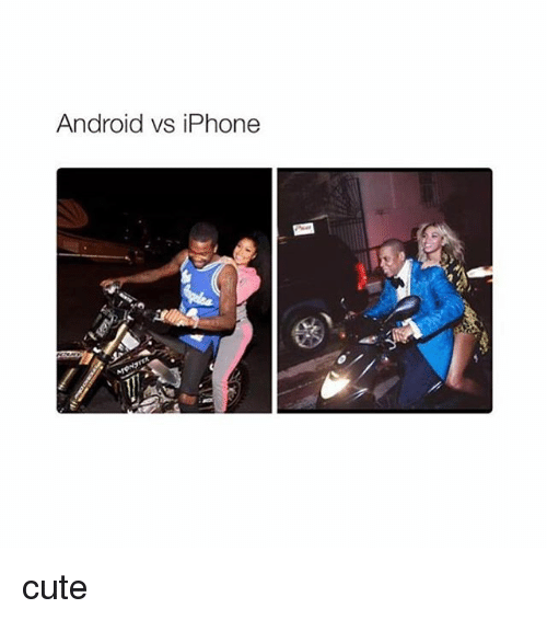 Androids Vs Iphones: Android vs iPhone cute