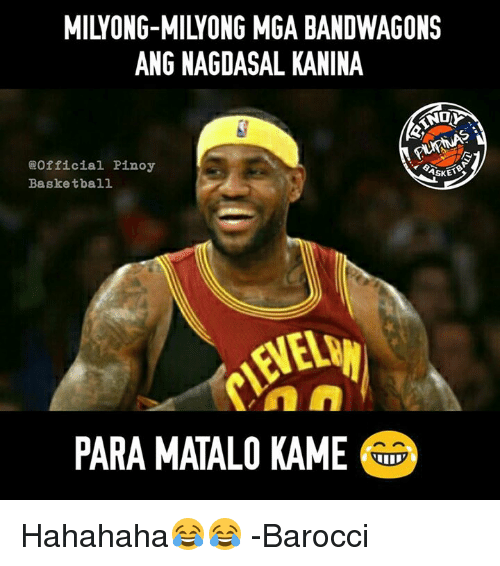 Basketball, Memes, and 🤖: ANG NAGDASAL KANINA  Official Pinoy  Basketball  PARA MATALO KAME  ASKET Hahahaha😂😂  -Barocci