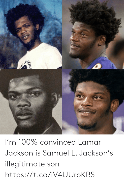 lamar: ANGE I'm 100% convinced Lamar Jackson is Samuel L. Jackson's illegitimate son https://t.co/iV4UUroKBS