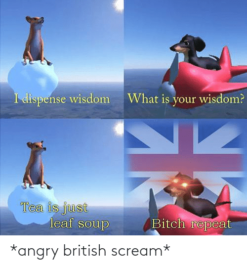 Scream: *angry british scream*