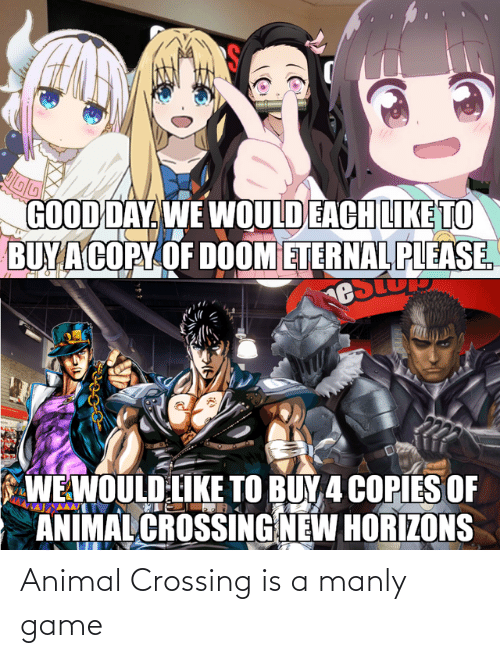manly: Animal Crossing is a manly game