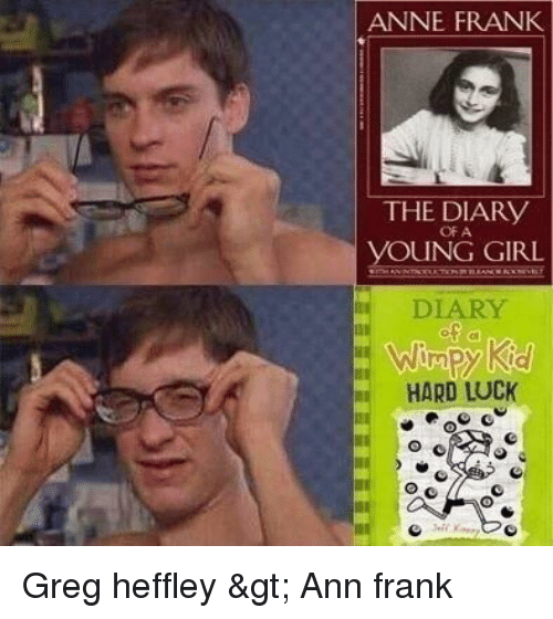 ann frank: ANNE FRANK  THE DIARY  OF A  OUNG GIRL  DIARY  HARD LUCK