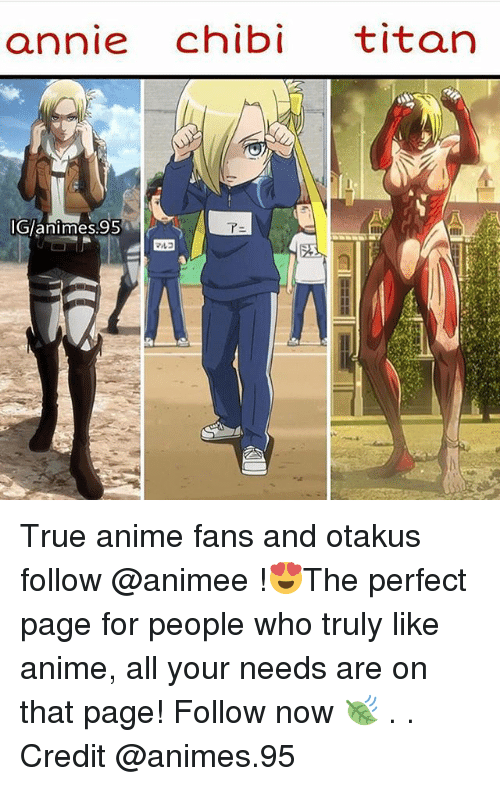 Chibies: annie chibi titan  Glanimes.95 True anime fans and otakus follow @animee !😍The perfect page for people who truly like anime, all your needs are on that page! Follow now 🍃 . . Credit @animes.95