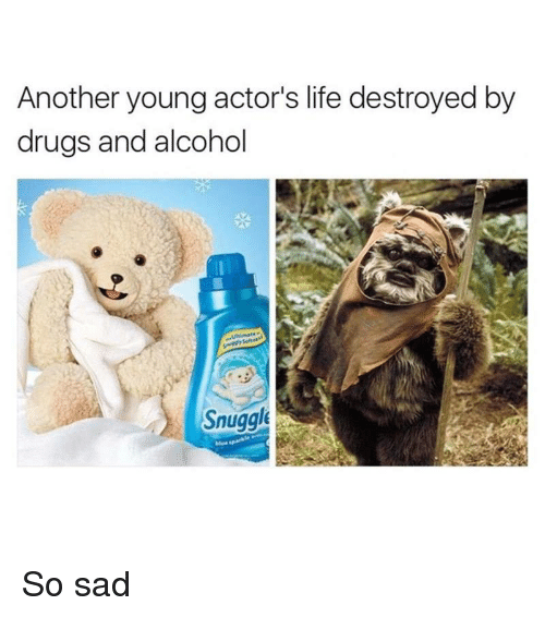 Drugs, Funny, and Life: Another young actor's life destroyed by  drugs and alcohol  Snuggle So sad