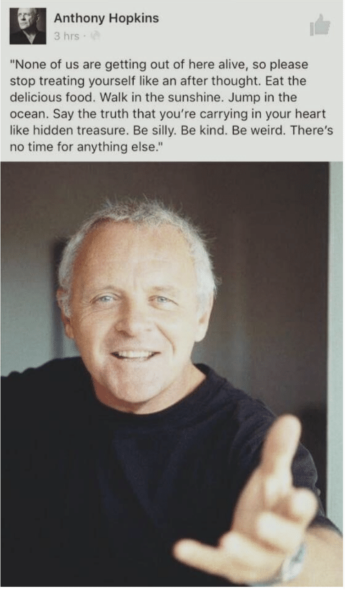 Anthony Hopkins 3 Hrs ... Anthony Hopkins