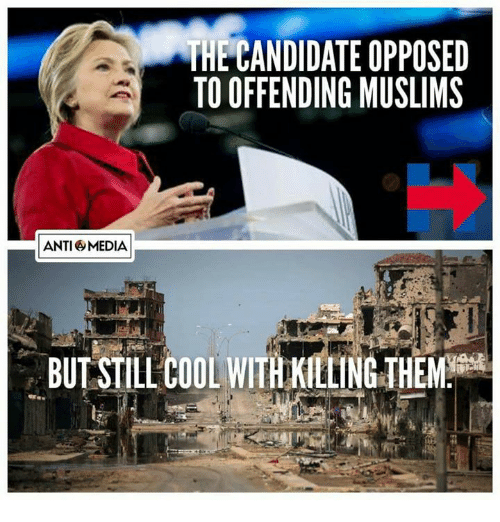 Anti Media: ANTI MEDIA  HECANDIDATE OPPOSED  TO OFFENDING MUSLIMS