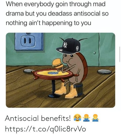SIZZLE: Antisocial benefits! 😂🙅‍♂️🤷‍♂️ https://t.co/q0lic8rvVo